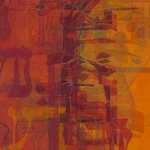 acrylique et feutres sur toile, 120 x 40 cm, 2013