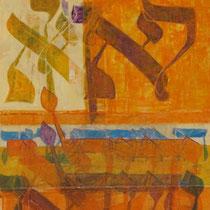 acrylique mixte sur toile, 90 x 30 cm, 2012 | fr 1'100
