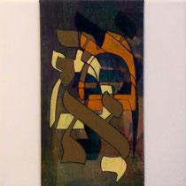 acrylique et feutres sur toile, 30 x 30 cm, 2011 | vendu