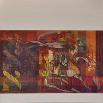 acrylique et feutres sur toile, 60 x 60 cm, 2012