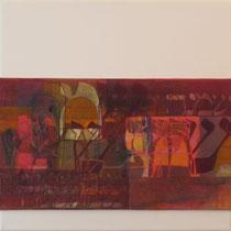 acrylique et feutres sur toile, 50 x 50 cm, 2011 | fr 900