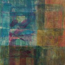acrylique et feutres sur papier, 50 x 50 cm, 2013 | vendu
