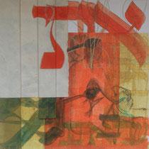 acrylique et feutres sur toile, 50 x 50 cm, 2014