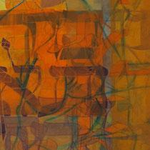 acrylique et feutres sur toile, 120 x 40 cm, 2013 | vendu