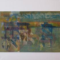 acrylique et feutres sur toile, 60 x 60 cm, 2013