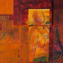shir hashirim, acrylique mixte et feutres sur toile, 18 x 45 cm, 2011