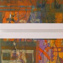 acrylique et feutres sur toile, diptyque 120 x 60 cm, 2013
