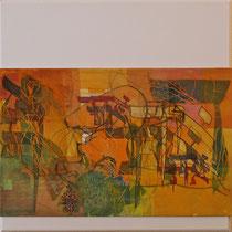 acrylique et feutres sur toile, 60 x 60 cm, 2011