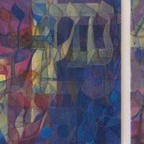 acrylique et feutres sur toile, 30 x 90 cm, 2013 | vendu