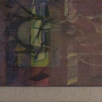 acrylique et feutres sur toile, 150 x 30 cm, 2012