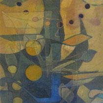 acrylique et feutres sur toile, 50 x 20 cm, 2012 | vendu