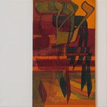 acrylique et feutres sur toile, 30 x 30 cm, 2011