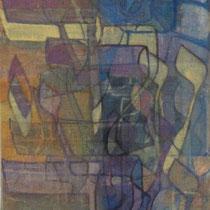 acrylique et feutres sur toile, 50 x 20 cm, 2012 |vendu