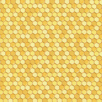 Honeycomb Geo Yellow