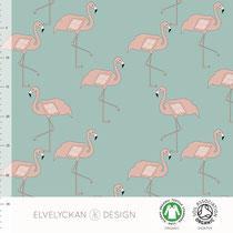 Flamingos - dusty mint