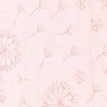 Pusteblumen glitzer auf zart rosa