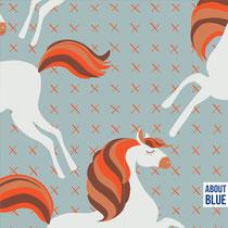 Unicorns Picknick mit Glitzerdruck