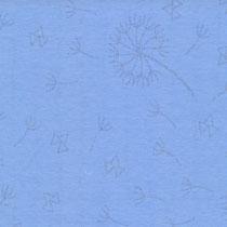 Pusteblumen glitzer auf blau