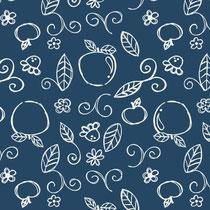 Apple Doodle dunkelblau