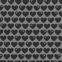 Herzen schwarz/grau