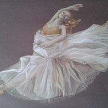 """""""Ballerina"""" Auftragsarbeit, Pastellkreidezeichnung, 50x60cm, 2013"""