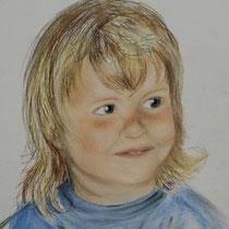 """""""Child"""" Pastellkreidezeichnung,40 x 30cm, 2008"""