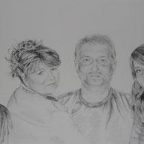 """""""Familie"""" Bleistiftzeichnung, 70 x 100cm, 2012"""