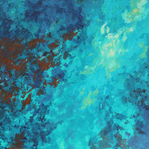 """""""Tiefe"""" Acryl auf Leinwand, 120 x 150cm, 11/2013"""