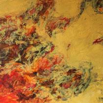 """Feuer"" Acrylmalerei, 70 x 100cm, 09/2013"