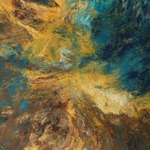 """""""Sturm"""", Acrylmalerei, 70 x 100cm, 09/2013"""