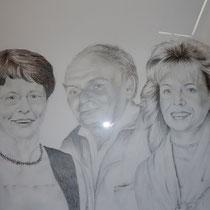 """""""Familie II"""" Bleistiftzeichnung, 70 x 100cm, 2012"""