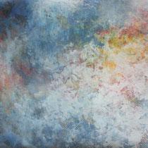 """""""Im Nebel"""" Acrylmalerei, 70 x 100cm, 07/2015"""