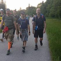 Die drei Musketiere am Trail