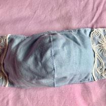 商品番号 :81涼 表:綿 フランス産レース       (横の長さ(中央)約25cm)