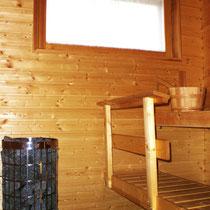 Ihnen liegt viel an Erholung in Ihrem Urlaub? Unser Rezept: Tageslicht-Sauna mit Elektroofen im Haus. Entspannen Sie bei versch. Aufgussvarianten, dank der großen Steinkammer des neuen Ofens. Daylight sauna with electrical stove, 80 kg weight of stones.