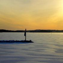 Ruhe und Gelassenheit im polaren Winter finden.