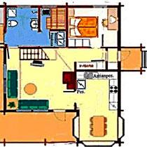 Grundriss Erdgeschoss mit Beispielausstattung