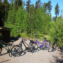 Machen Sie kleinere oder ausgedehntere Touren mit unseren kostenlos zusätzlich verfügbaren Bikes.