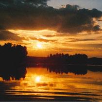 Goldene Sonnenuntergänge immer wieder neu.