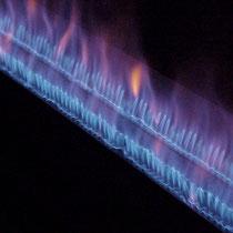 Zweifachbrenner mit Flamme