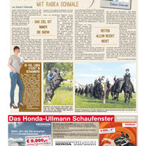 Foto Veröffentlichung im Schaumburger Wochenblatt, Mai 2013