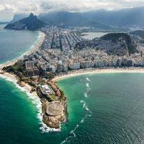 Rio de Janeiro-Forte de Copacabana.  Praias de Copacabana e Ipanema