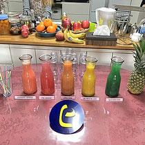 5色のジュース