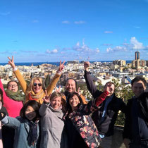 GSE Malta-Students on rooftop of School