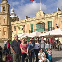 GSE Malta-Social Programme Students at Marsaxlokk Fishing Village Sunday Excursion