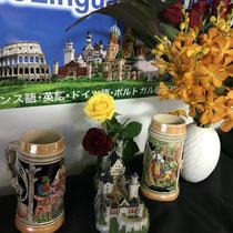 ⑥ ビールとお花とお城