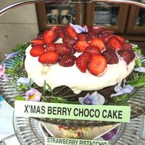 ⑥ X'mas Berry Choco Cake - クリスマス・ベリー・チョコ・ケーキ