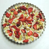 ③ Strawberry Pistacchio White Chocolate Bark - いちごとピスタチオのホワイトチョコレート
