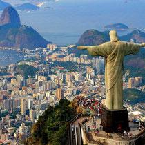 Rio de Janeiro-Panorámica da cidade, Corcovado com estátua do Cristo Redentor e Pão de Açucar
