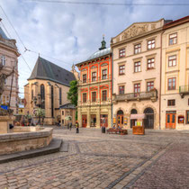 Lviv-Old town.  A UNESCO World Heritage site